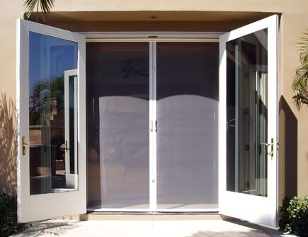 Retractable screen doors utah wizard rain gutters for Can you put screens on french doors