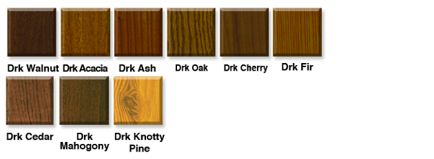 dark wood screen door finishes