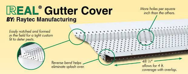 real gutter cover leaf protection